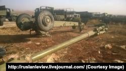Сирія – російська гаубиця, ймовірно, пошкоджена під час бою