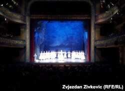 Balet Giselle tokom Noći teatra u Sarajevu, 19. novembar 2011.