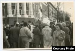 Жители Минска в День независимости БНР в 1989 году