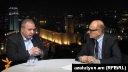 Грант Багратян в студии Азатутюн ТВ, 5 апреля 2015 г.