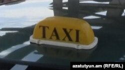 Armenia -- Taxi drivers stage a protest action in Yerevan, 27Jun2012