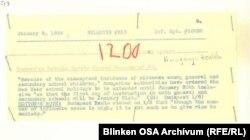 Archív feljegyzés a SZER dokumentumai között a téli tanítási szünet meghosszabbításáról.