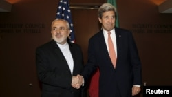 "A year later, would Iranian Foreign Minister Mohammad Javad Zarif (left, with U.S. Secretary of State John Kerry at the United Nations in New York in April) still call it a ""win-win"" deal?"