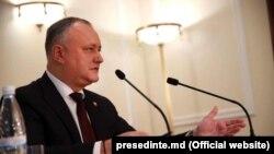 Igor Dodon la conferința de presă de bilanț