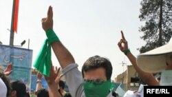 تظاهرات هواداران جنبش سبز در روز قدس در تهران