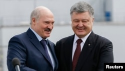 Аляксандар Лукашэнка іПятро Парашэнка, архіўнае фота