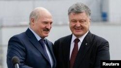 Президент України Петро Порошенко та президент Білорусі Олександр Лукашенко, Чорнобиль, квітень 2017 року