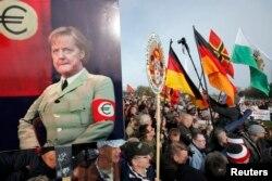 Прихильники руху Pegida у Дрездені. Квітень 2015 року