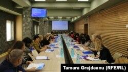 """Evenimentul cu participarea reprezentanţilor Asociaţiei """"Copil, Comunitate, Familie"""", UNICEF, Ministerului sănătății, muncii și protecției sociale"""