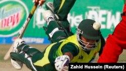 آرشیف/ یکی ورزشکاران تیم کریکت پاکستان