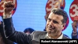 Makedoniyanın baş naziri Zoran Zaev referendum kampaniyasında, 26 sentyabr, 2018-ci il