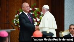 له عراقي چارواکو سره د پاپ فرانسېس لیدنه