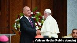 Papa Francisc la Palatul Prezidențial din Bagdad