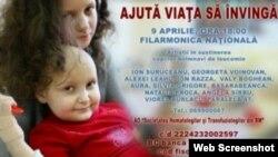 Afişul concertului de binefacere din 9 aprilie la Filarmonica Naţională