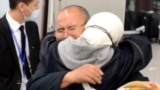 Kazakhstan - Rakyzhan Zeinolla hugged his daughter after 17 years of separation. Almaty, 9 April 2021