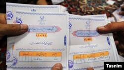 Бюллетени для голосования на выборах президента в Иране. 20 мая 2017 года.