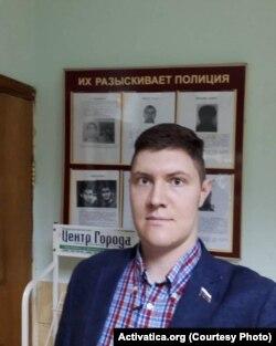 Денис Стяжкин в ОВД