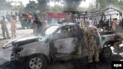 نیروهای امنیتی پاکستان در محل انفجار در شهر کویته
