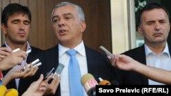 Opozicioni lideri Andrija Mandić, Srđan Milić i Nebojša Medojević, foto: Savo Prelević, 2011.