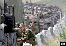 Російські військові дорогою до Цхінвалі, 9 серпня 2008 року