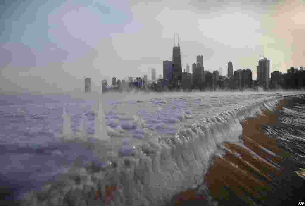 Озеро Мичиган у Чикаго.