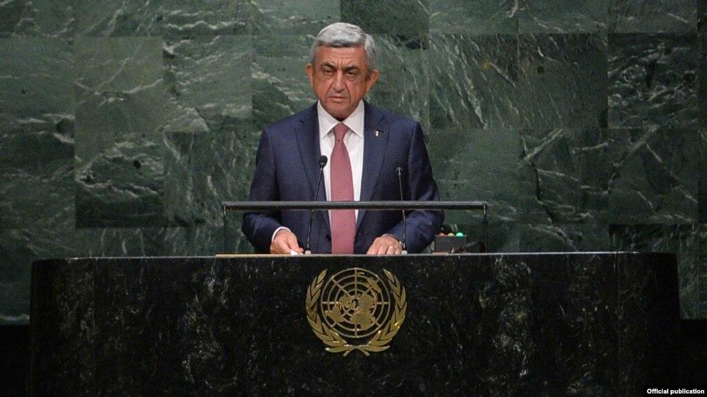 Ադրբեջանը չունի իրավական և բարոյական որևէ հիմք Արցախի հանդեպ հավակնություն ներկայացնելու համար. Սերժ Սարգսյանի ելույթը ՄԱԿ-ում