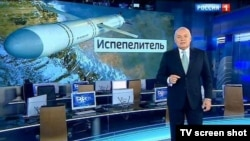 Pro-Kremlin media personality Dmitry Kiselyov heads the Sputnik news website, now blocked by Latvia.