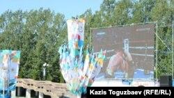 Абыкаев, Головкин и фестиваль яблок в Алматы