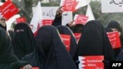 بحرین- سه هزار زن شیعه در تظاهراتی در نوامبر سال گذشته خواستار اصلاحات در قانون اساسی شدند