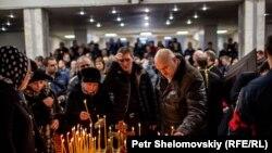 На похоронах погибших горняков в Воркуте. 4 марта 2016 года.