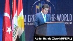 رئيس حكومة إقليم كردستان العراق نيجيرفان بارزاني يتحدث في المؤتمر