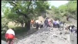 گزارش صدا و سیما از انفجار معدن در آزادشهر، استان گلستان