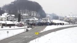 Blokada petlje Šićki Brod u Tuzli