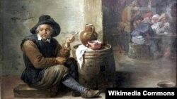 Давід Тэнірс Малодшы, «Стары курыльшчык» (1660)