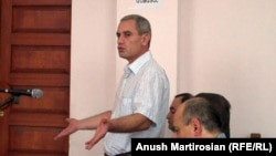 Armenia -- Tigran Grigorian, the former head of the State Ecological Inspectorate, speaks at his trial on bribery charges, 5August 2010.