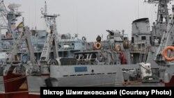 Навесні 2014 року моряки українського корабля «Черкаси» чинили опір російським військам у Криму