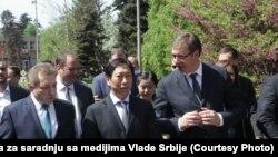Ju Jong i Aleksandar Vučić u Smederevu
