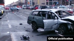 Взрыв автомобиля в Берлине, фото - twitter Полиции Берлина