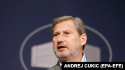 European Commissioner for Enlargement Negotiations Johannes Hahn (file photo)