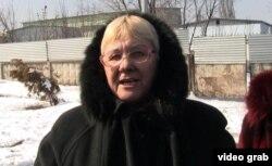 Валентина Лотикова, владелец машины с кыргызскими номерами. Алматы, 12 марта 2014 года.
