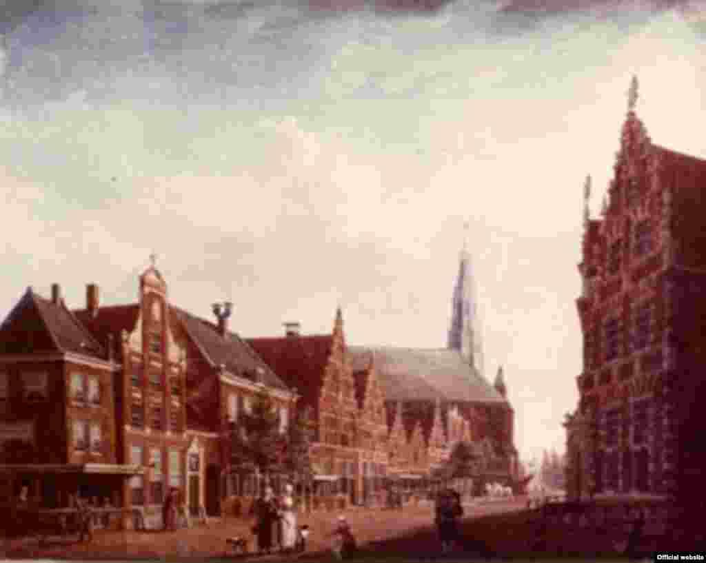 Izaak Ouwater, The Nieuwstraat in Hoorn, 1784