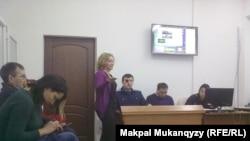 Процесс по делу Юлии Козловой. Алматы, 15 февраля 2016 года.