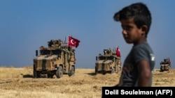 Türkiyə -Suriya sərhəddi boyunca 4 oktyabr 2019