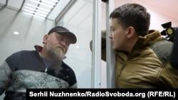 Володимир Рубан (ліворуч) та Надія Савченко