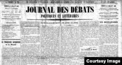 """Articolul """"En Bessarabie"""" în Journal des Debats (Foto: BCU, Iași)"""