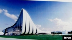 Azerbaijan -- Haydar Aliyev Center, slide show, 10Sep2007
