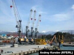 Строительство Порта Сочи Имеретинский. 2014 год