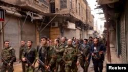 نیروهای ارتش سوریه در مرکز حلب