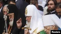 Главы грузинской и российской церквей находятся в Украине в связи с праздничными мероприятиями вокруг дня Крещения Руси