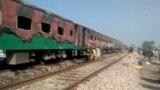 Страшный пожар в поезде в Пакистане начался от газовой горелки